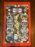 Vintage 1981 Cotton Made in Britain Pennine Way Tea Towel Skipton Barnard Castle