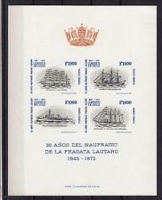 Chile 1975 Mi.Nr. 838-41 Block ** Schiffe / Ships