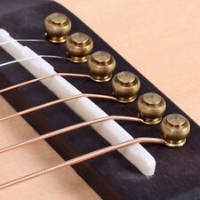 6 Pcs Solid Brass Bridge Pins For Acoustic Guitar Strings Accessories DIY UK