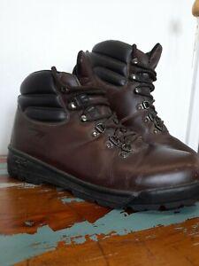 Hi-Tec Brown Leather Eurotrek Walking Boots Mens Size UK 9 EU 43 Hiking