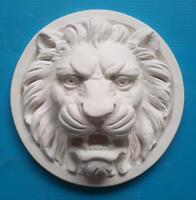 Gips Stuck Relief = römischer Löwe =  Wandrelief Dekoration Deko Löwenkopf