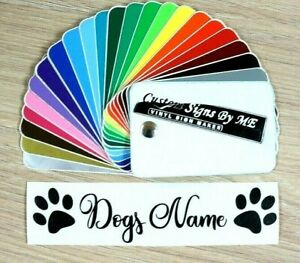 Personalised Dog Puppy Bowl Feeder Sticker With Name Vinyl Decal Adhesive BLACK