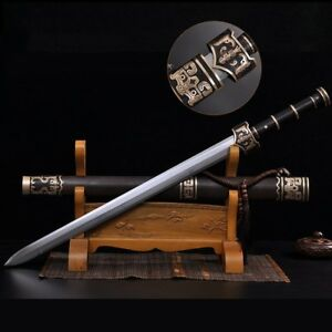 China Han sword Traditional Hand Forged pattern steel Sharp Battle ready #4756
