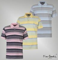 Mens Pierre Cardin Classic Cotton Top Stripe Polo Shirt Sizes from S to XXL