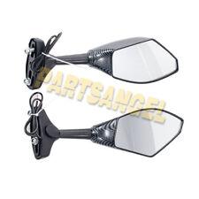 Carbon Fiber LED Integrated Turn Signal Mirrors for Honda CBR 600 F4i 929 954 RR