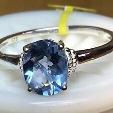 Color Change Fluorite Solitaire Ring (Sz10 Or Sz11) TGW 2.20cts .925silver