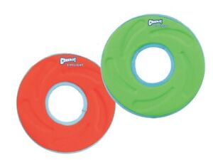 Chuckit! Zipflight - Dog Puppy Fetch Toy Game Frizbee Frisbee Orange Green 21cm
