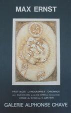 """""""MAX ERNST: WUNDERHORN de LEWIS CARROLL"""" Affiche originale entoilée 1970"""