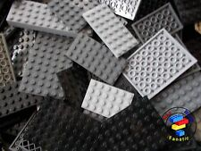 Lego 20 x Black / Grey Plates Boards Strips Bases Castle / Star Wars