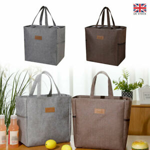 Large Insulated Lunch Bag Cool Bag Work Picnic Adult Kid Food Storage Lunch Box