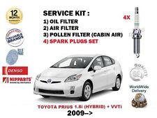 Per TOYOTA PRIUS 1.8 Hybrid 2009 - > Olio Aria Polline 3 Filtro + tappi kit di servizio