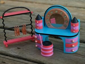 LOL Surprise Doll Vanity & Clothes Rack Dollhouse House Furniture Set