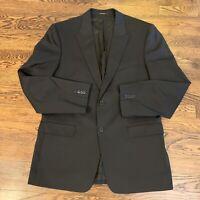 Versace Collection Men's Black Two Button Blazer Sport Coat US 44