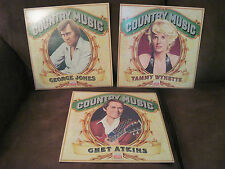 GEORGE JONES/TAMMY WYNETTE/CHET ATKINS Time Life Records Country Music, Lot of 3