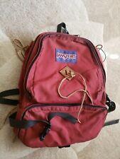 Rare Vtg Jansport Canvas and Leather Tie Tassels Backpack Rucksack USA