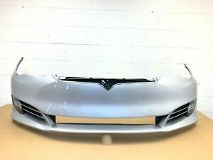 2016 2017 2018 2019 2020 tesla model S front bumper with 6 sensors (silver) #4