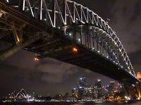 PHOTO CITYSCAPE SYDNEY HARBOUR BRIDGE NIGHT 12 X 16 INCH ART PRINT POSTER HP2485