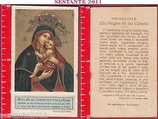 3284 SANTINO HOLY CARD MADONNA MARIA SS. DEL CARMINE DETTA DELLA BRUNA NAPOLI