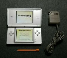 Nintendo DS Lite Console Gloss Silverwith Charger and Stylus