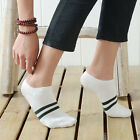 1 Pair Men's 2-Stripes Fashion Cotton Low Cut Socks Sport Ankle Socks Casual