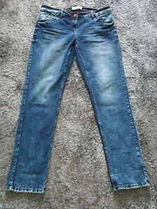 Cecil Scarlett Jeans blau 34/32