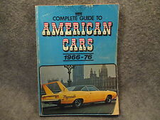 Complete Guide To American Cars 1966-1976 1977 Vintage Paperback Book Automedia