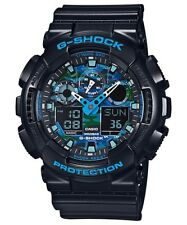 Casio G-Shock Analogue/Digital Black/Blue Extra-Large Mens Watch GA100CB-1A GA-1