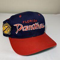 Vintage Sports Specialties Script Hat Snapback Cap Florida Panthers Hockey 90s