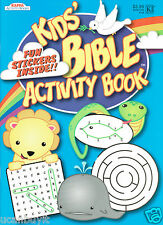 48pg Kappa KID'S Bible Activity Workbook with Fun Stickers Ages 5+