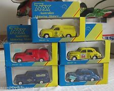 Trax 1:43 australian motoring history lot de 5 voitures wholesale 5 cars