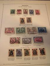 Sammlung Danzig 1920-1923 gestempelt + ungebraucht, ca. 380 Marken (985)