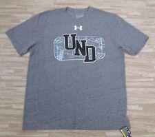 North Dakota Hockey UND Rink Under Armour Shirt ~ Men's Large L ~ Gray