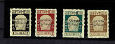FIUME #143-146 SURCHARGED high values of set VFH