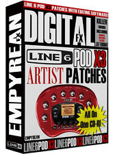 Line 6 POD X3 Artist Patches Guitar Effects Tone Presets Settings Windows Mac
