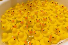 100pcs Lot of Yellow Mini Rubber Ducks For Fun, Parties, Pranks 1.5""