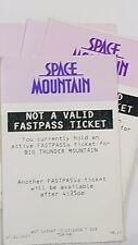 Disney FASTPASS Walt Disney World Fast Pass Ticket SPACE MOUNTAIN notvalid