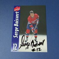 SERGE BOISVERT Montreal Canadiens Sherbrooke Molson Export SIGNED AUTO 1982-88