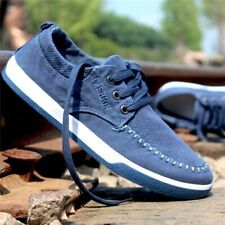 US Men's Canvas Casual Shoes Flats Suede Driving Sneakers Footwear   USA * x