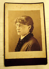 Antique Cabinet Photo of Young Lady by C.R.B. Claflin Worcester, Massachusetts