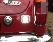 MGB & MGC REVERSE Light Restauro Kit NUOVO Guarnizioni (2) + LAMPADINE A LED (2),