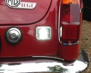 MGB & MGC reverse light refurbishment kit NEW seals (2) + LED bulbs (2),
