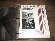 Skyjack SJ1000 Scissor Lift Aerial Platform Boom Maintenance Part Catalog Manual