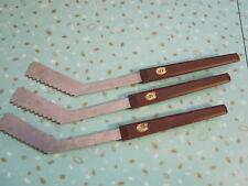 3 Rare Vintage Montreal Canadiens Hockey Stick Food Knives