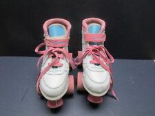 Girls White Sidewalk Roller Skates Chicago Size J13