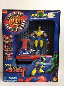 Vtg Marvel Comics X-Men Heavy Hitters Slashing Wolverine Figure Toy Biz 48601