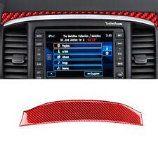 For Mitsubishi Lancer 2008-15 Red Carbon Fiber Navigation Upper Panel Cover Trim