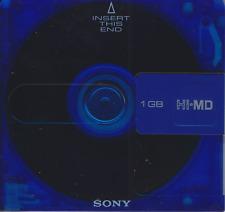 1 X Usado Sony 1 GB Hi-MD MiniDisc en caso. Azul.