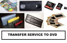 Transfer of Video Cassettes , Camcorder Tapes Memory cards and sticks to Dvd.