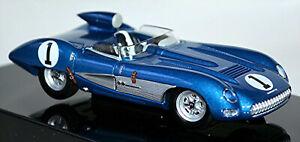 Chevrolet Corvette Ss Roadster 1957 #1 Blue Metallic 1:43 Autoart