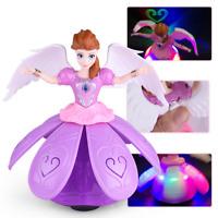 Toys for Girls Kids Musical Dancing Doll Flashing LED Light Princess Xmas Gift